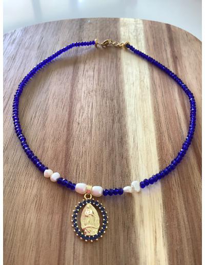 Collar Virgen Azul Klein