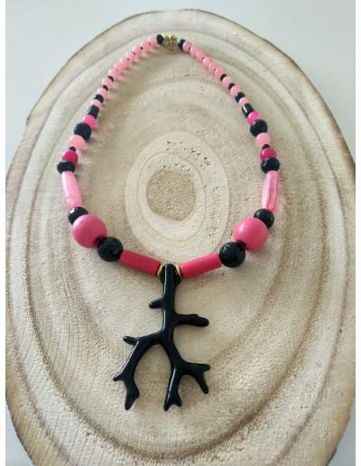 Collar Coral Negro