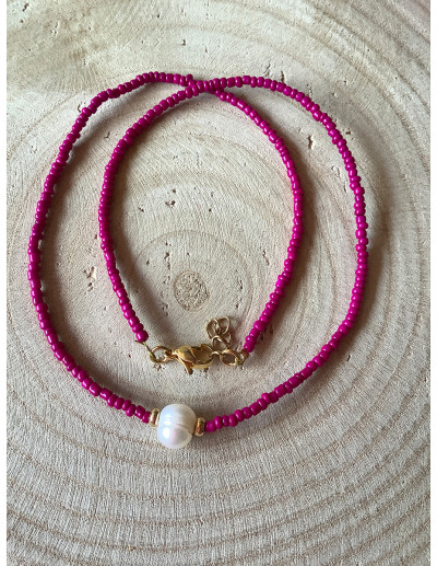 Collar-pulsera Frambuesa