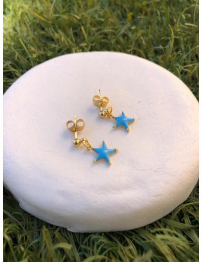 Pendientes Mini Star Blue