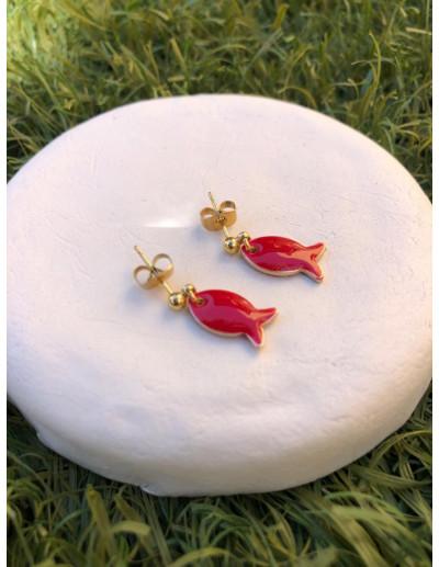 Pendientes Red Fish